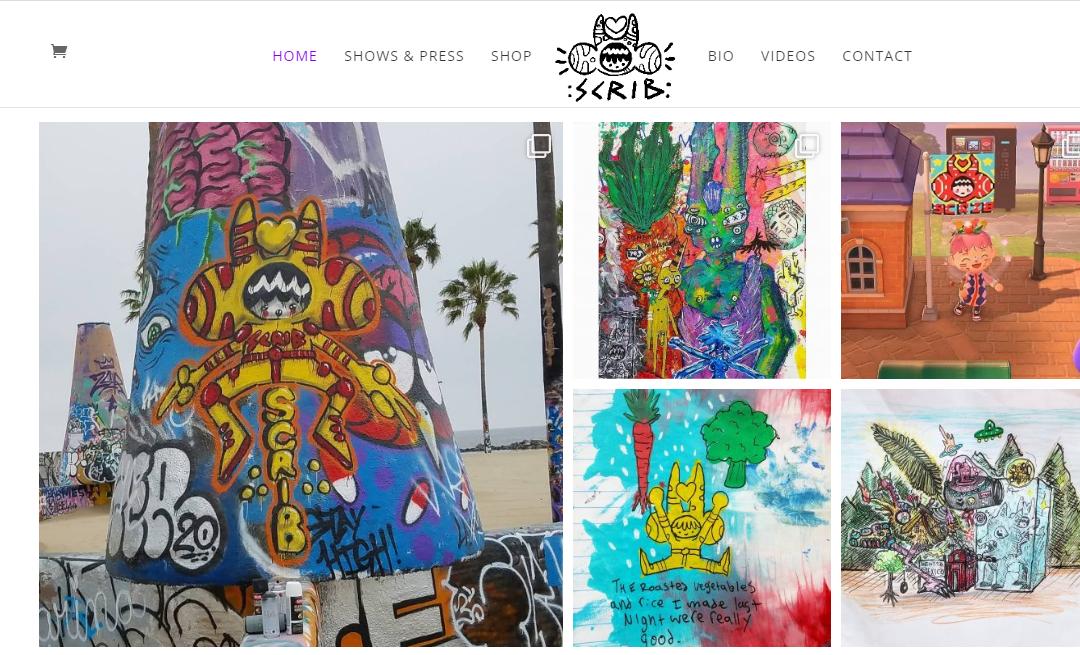Web Design for Venice Street Artist & Animator