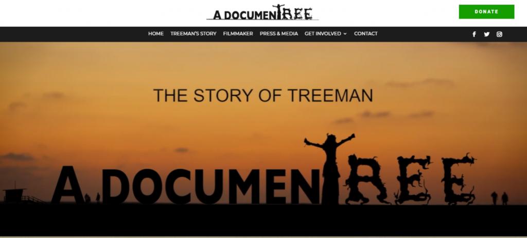 Website design for a filmmaker documentary