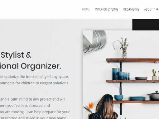 New Website for Interior Designer To Replace Old Site, South Bay