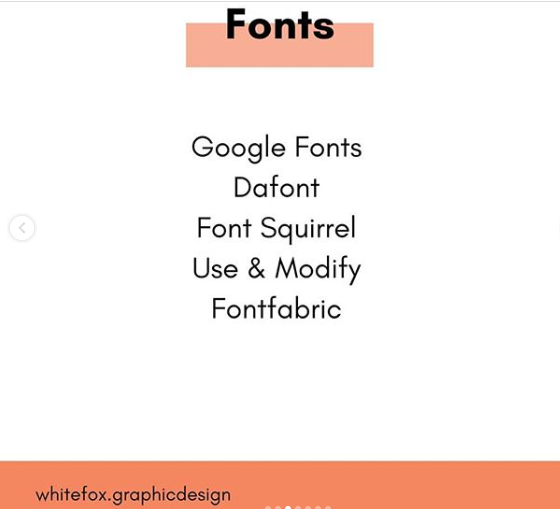 free fonts resource for websites and branding