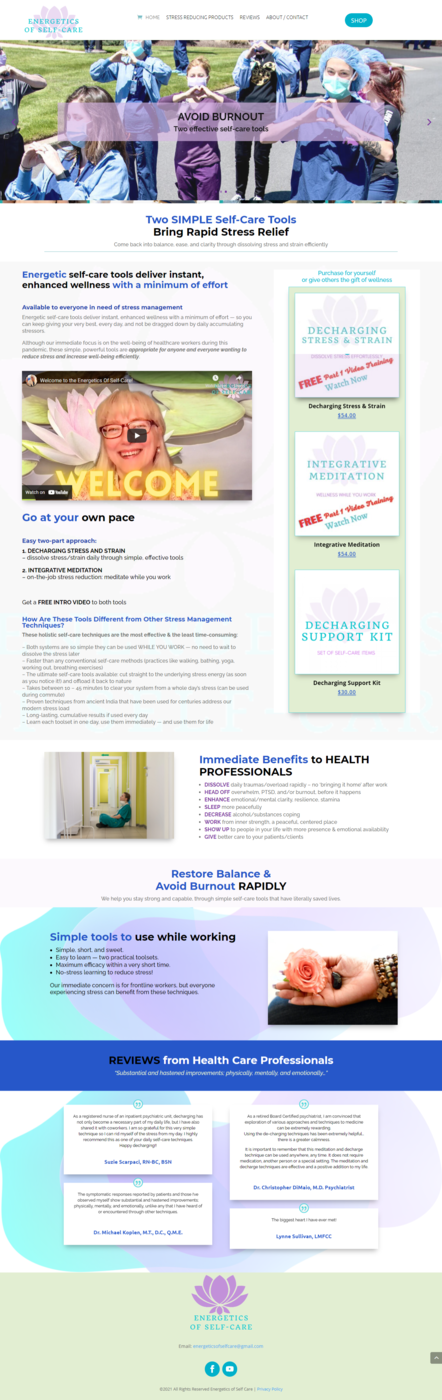 Screencapture of new webstie built for a medical professional in West Los Angeles