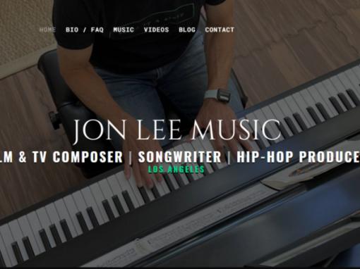 Music Composer & Producer Website Design, Santa Monica