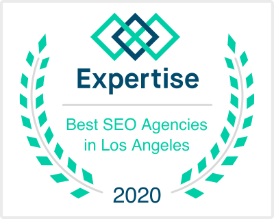 2020 Los Angeles agency SEO expertise award by expertise.com