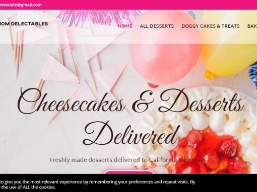 Ecommerce Website Designed for Bakery in Carson